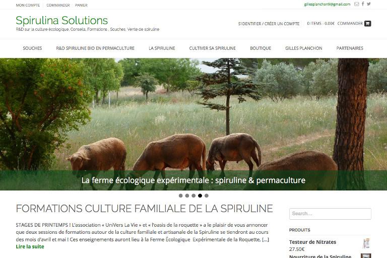 Lancer un site : Spirulina Solutions